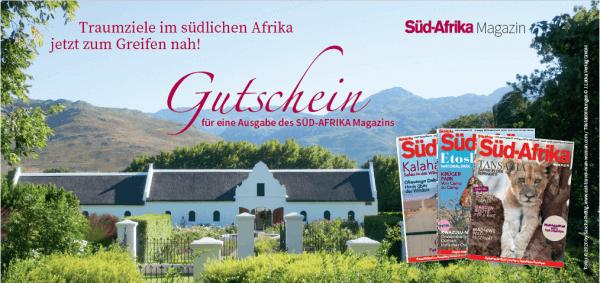 Gutschein für ein Südafrika Magazin